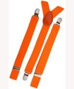 Unisex Plain Neon Orange 25mm Fashion Braces