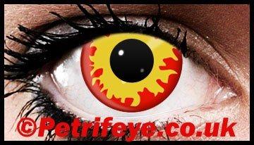 Burning Fire Eyez Coloured Contact Lenses