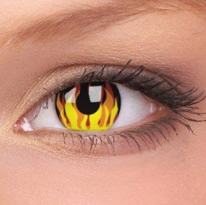 ColourVue Flame Hot Crazy Contact Lenses
