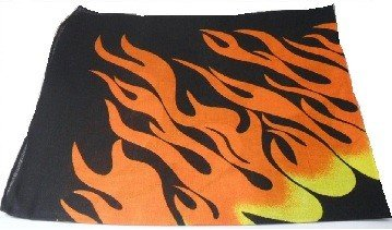 Flame Fire Design Bandana Head Neck Scarf 100% Cotton