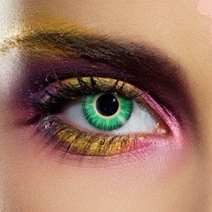 Edit's Fusion Range Green & Yellow Contact Lenses