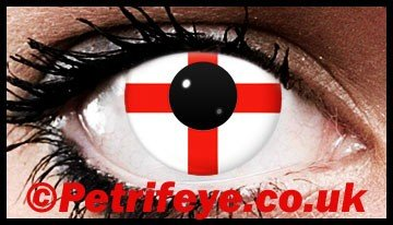 George Cross Patriotic Flag Contact Lenses
