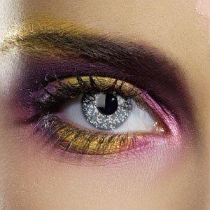 Edit's Colour Vision Range Glimmer Black Silver Contact Lenses
