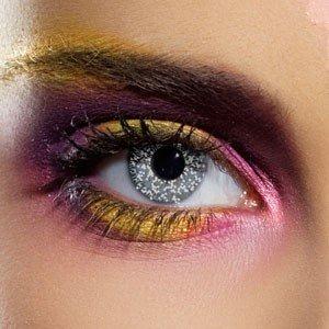 Edit's Glimmer Range Black & Silver Contact Lenses