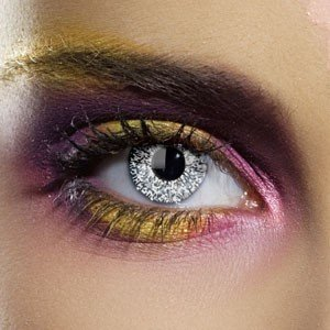 Edit's Glimmer Range Silver Contact Lenses