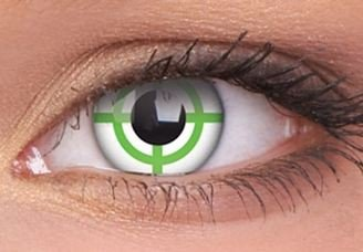 ColourVue Green Target Crazy Contact Lenses