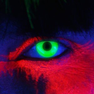 Edit's iGlow Range Green UV Contact Lenses