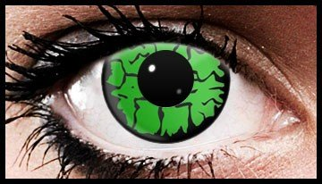 90 Day Wear Green Wolf Eye Cosmetic Contact Lenses