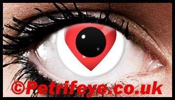 Love Heart Coloured Contact Lenses