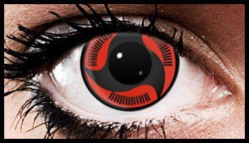 (90 Day Wear) Itachi Mangekyo Naruto Coloured Contact Lenses