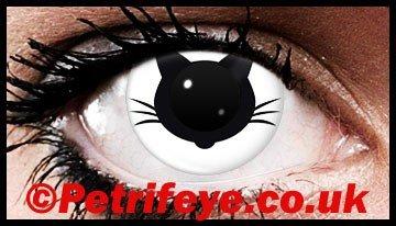 Black Kitten Cat Coloured Contact Lenses