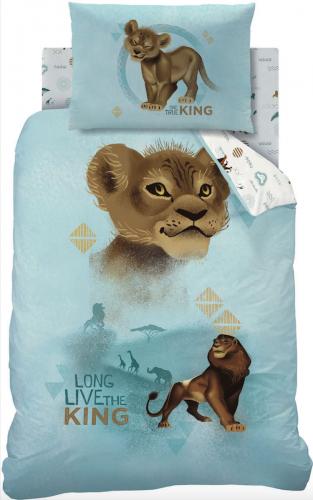 Single Size Lion King Simba Reversible Photographic Design Duvet Cover & Matching Pillowcase