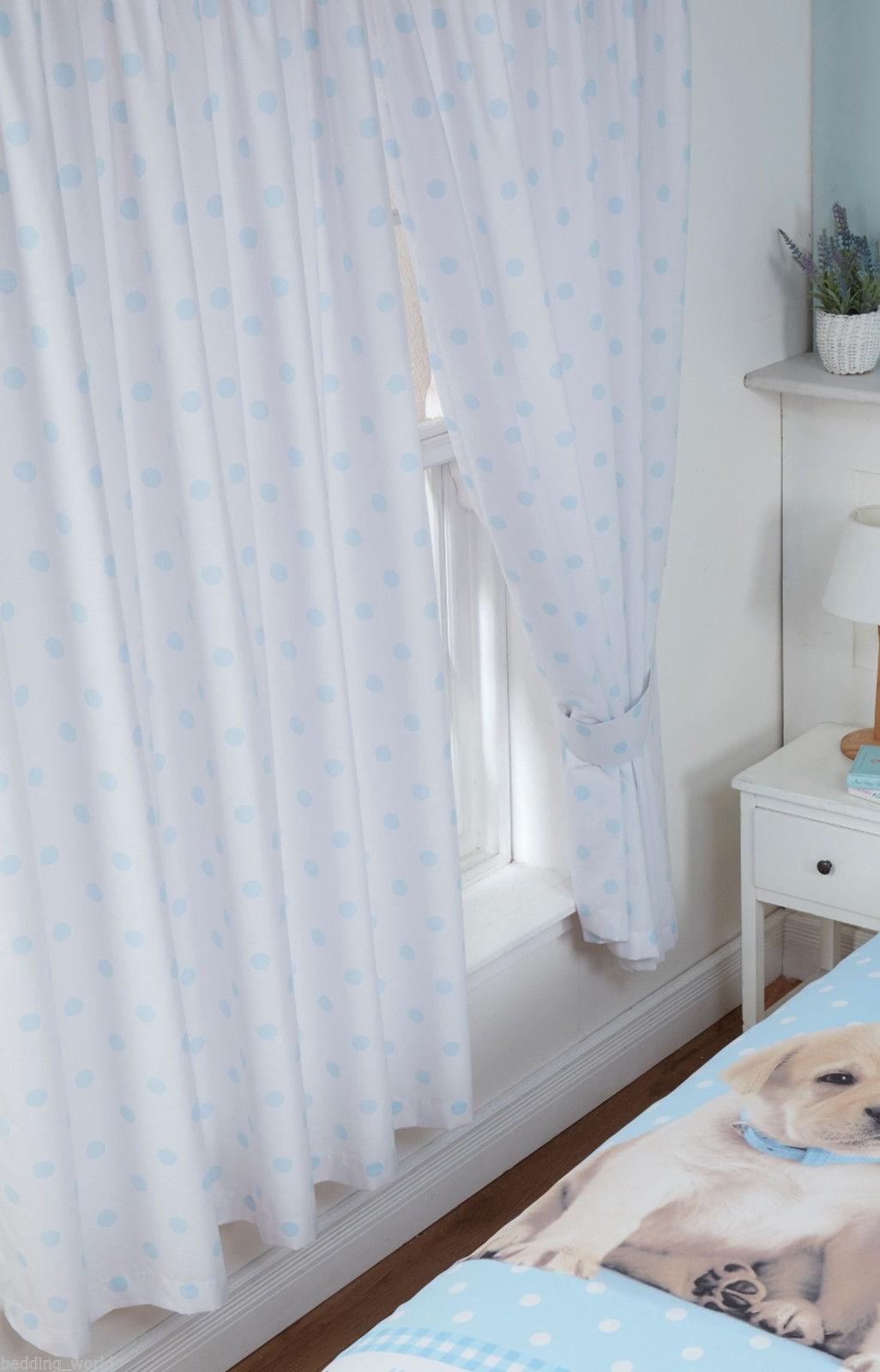 Luke & Leia Cute Labrador Puppy Set Curtains & Tie Backs