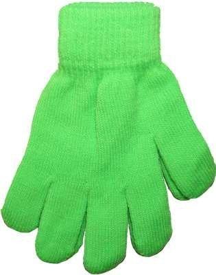Hot Green Neon Bright Florescent Magic Gloves