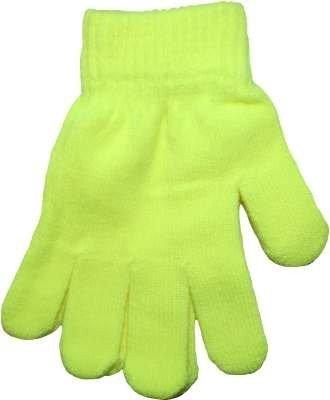 Yellow Neon Bright Florescent Magic Gloves