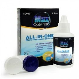 Max Optifresh Contact Lens Cleaning Solution 60ml & FREE Lens Case