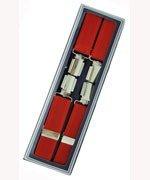 Men's Hardwearing Red 25mm Fashion Braces