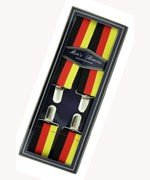 Men's Hardwearing Germany Flag Printed 35mm Fashion Braces