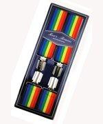 Men's Hardwearing Rainbow Printed 35mm Fashion Braces