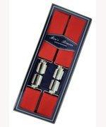 Men's Hardwearing Red 35mm Fashion Braces