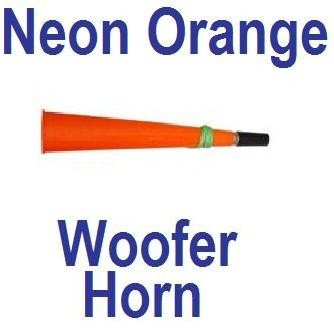 Neon Orange Rave Party Woofer Horn
