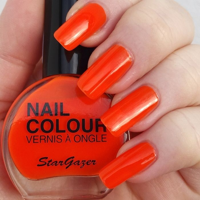 Stargazer UV Orange Neon Nail Varnish 14ml 103