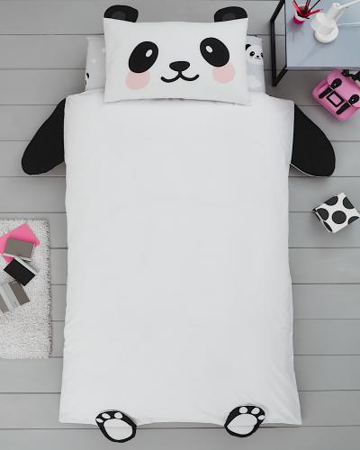 Panda Face Toddler Size Pillowcase
