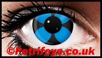 Blue Panzy Crazy Coloured Contact Lenses