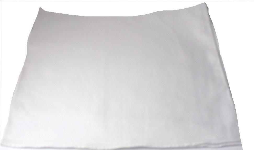 Plain White Bandana Head Neck Scarf 100% Cotton