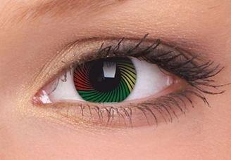 ColourVue Rasta Crazy Contact Lenses