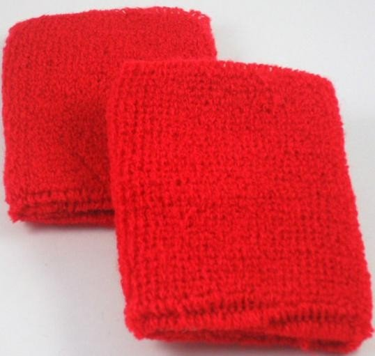 Plain Red Sweatband / Armband