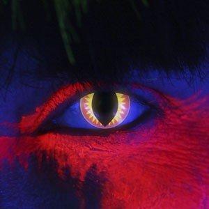 Edit's iGlow Range Red Dragon Contact Lenses