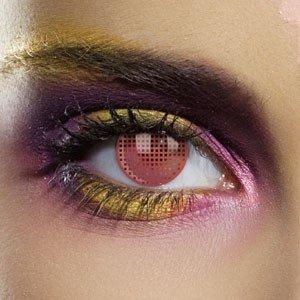 Edit's Colour Vision Range Red Mesh Contact Lenses