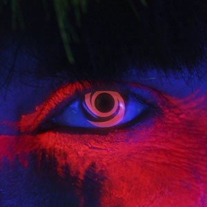 Edit's iGlow Range Red Swirl Contact Lenses