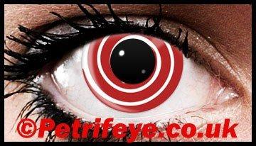 Red Swirl Fun Wild Contact Lenses