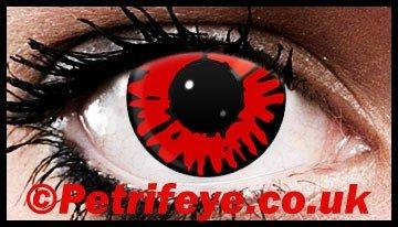 Red Wolf Volturi Design Contact Lenses