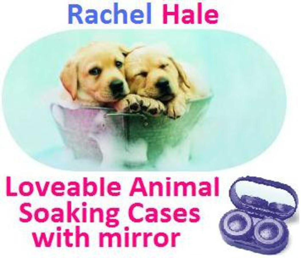 Puppies In a Bucket Rachel Hale Contact Lens Soaking Case