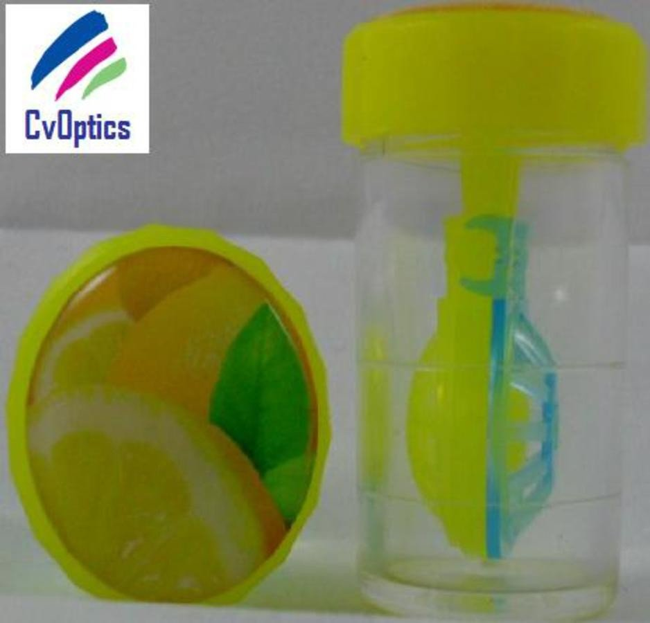 Lemon Fruit Contact Lens Storage Soaking Barrel Case
