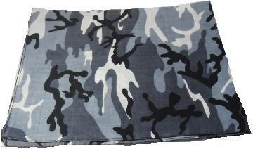 Grey Camouflage Bandana Head Scarf