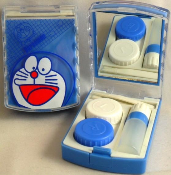 Doreamon Blue Contact Lens Storage Soaking Travel Kit