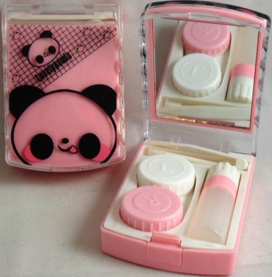 Lovely Panda Contact Lens Storage Soaking Travel Kit