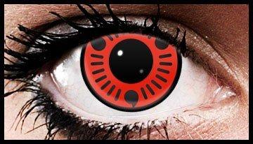 (90 Day Wear) Sasuke Sharingan Naruto Contact Lenses