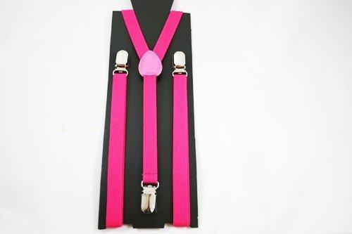 Unisex Plain Neon Pink 15mm  Fashion Braces