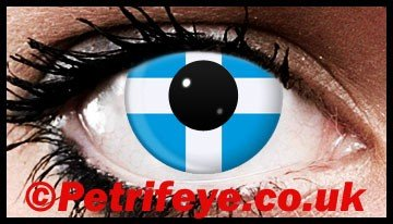 St Andrews Cross Patriotic Contact Lenses