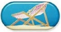 Summer Chair Summer Vibes Contact Lens Soaking Case