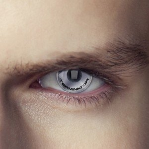 Terminator Text Contact Lenses