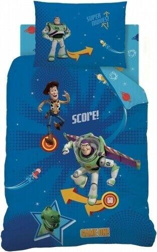 Single Size Toy Story Reversible Pinball Design Blue Duvet Cover & Matching Pillowcase