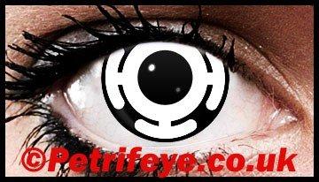 Crazy Cyborg Rave Party Contact Lenses