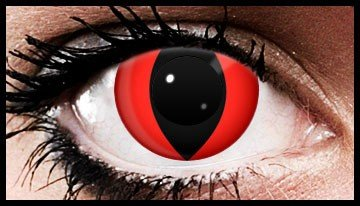 90 Day Wear Red Cats Eye Cosmetic Contact Lenses