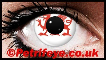 Red Dragon Welsh Patriotic Contact Lenses